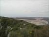 A pedreira vista do topo