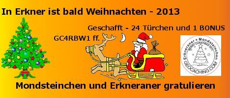 Weihnachtsrunde Erkner-Banner am 02.01.14