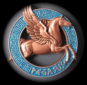 Pegasus - blau/Glitter