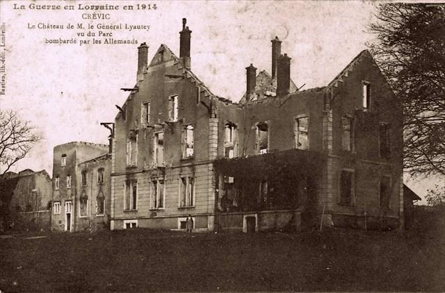Le château Lyautey (août 1914)