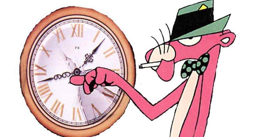 Witzige Uhr