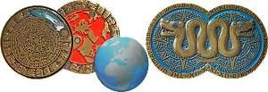 Weltuntergang Geocoin Antik Gold