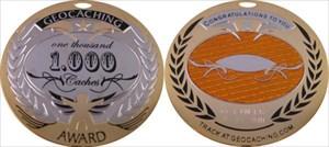 Award Geocoin 1.000 Geocaches ich