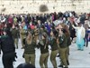 Soldiers dancing on Shabat - the Sabbath.