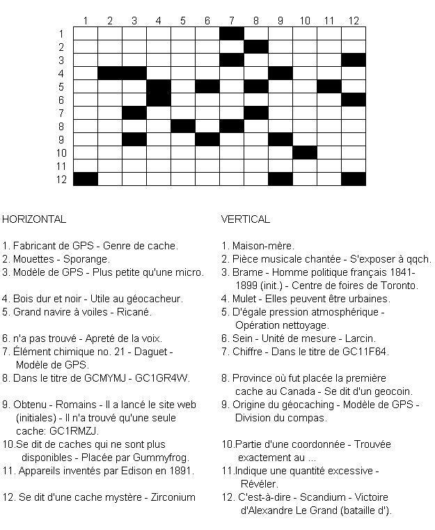 gc2mtq2 géo mots-croisés (unknown cache) in quebec, canada created