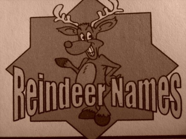 santa s reindeer names