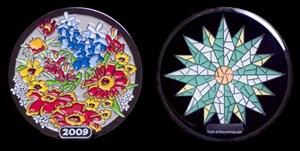 Wildflowers 2009 Geocoin - Black Nickel with Glow