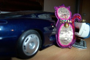 CatSuey ready to set off on her travels.