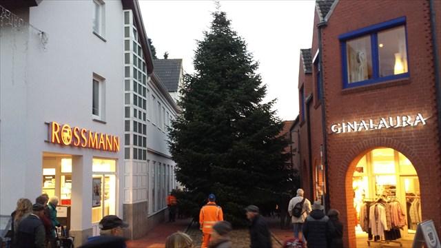 Weihnachtsbaum aufstellen kappeln