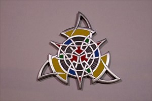 The Celtic Triangle Geocoin - Antik Silber
