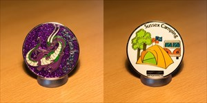 Sussex Camping Geocoin