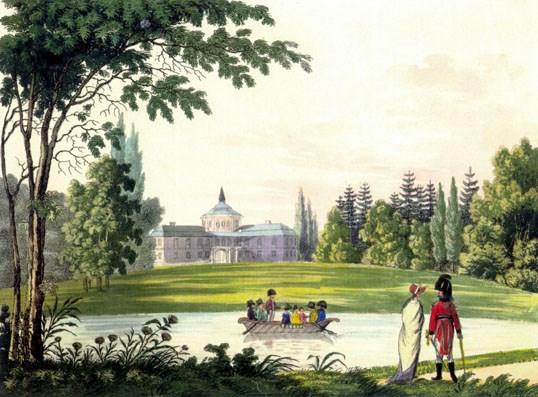 Zamek v roce 1804
