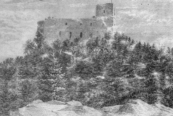 Kresba Radyne ze severu / Drawing Radyne from the north