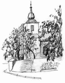 Kostel kresba