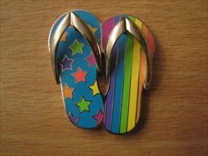 Stars & Stripes Flip Flops Geocoin artist edition