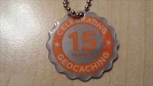 15 Years of Geocaching Tag