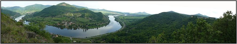 Panorama - vyhlidka vedle Dubic