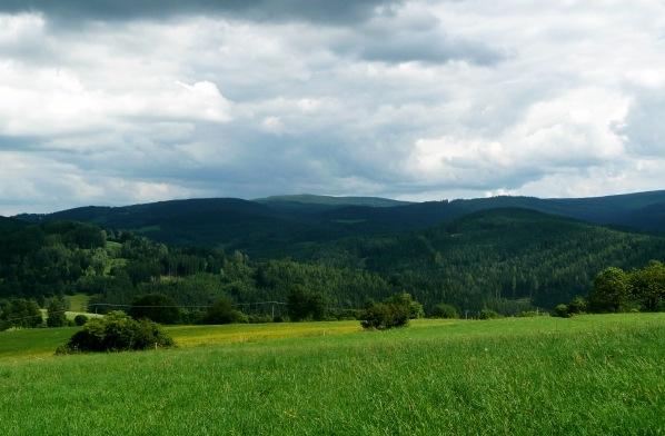 Popelna hora od Šibeničního vrchu