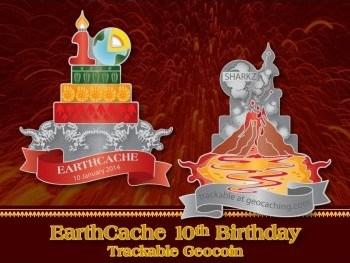 EarthCache 10th Birthday Geocoin