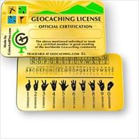 Geocaching License Gold