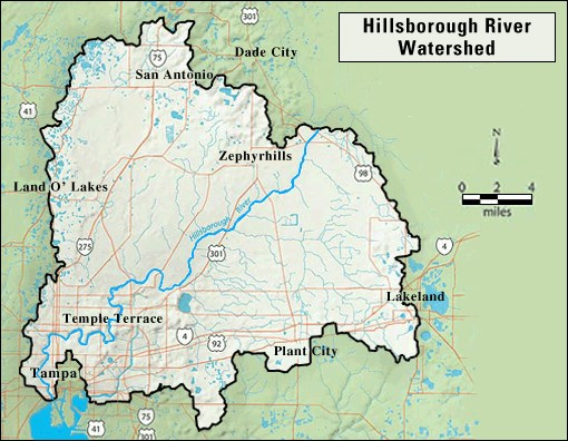 Florida Watershed Map.Gc45d2m Hillsborough River Watershed Earthcache In Florida United