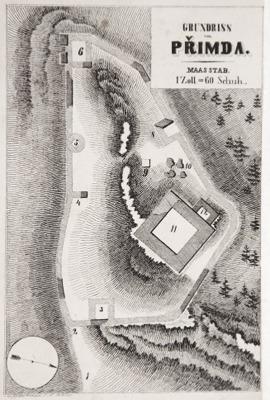 Plánek hradu dle F. A. Hebera
