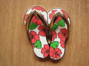 Hibiscus Flip Flops Geocoin (1)