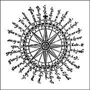 Kompassrose von 1607