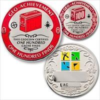 00100 Finds Geo-Achievement Geocoin