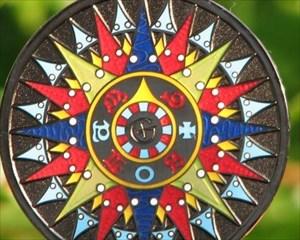 Compass Rose 2008 Geocoin - Black Nickel - Front