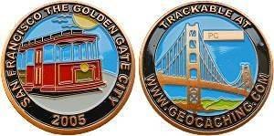 "Personal Geocoin ""San Francisco"""