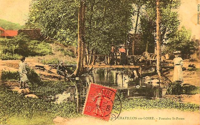Fontaine en 1900