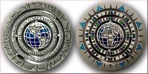 Geocaching - 10 Years Geocoin - Antique Silver