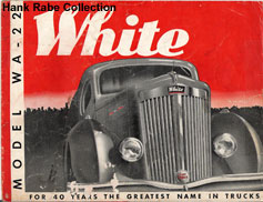 This old ad from the White Motor Company shows the same detail on the fenders.