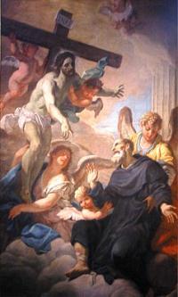 Barokni vyobrazeni svetce s Jezisem