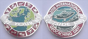 International Geocaching Day 2018 Geocoin