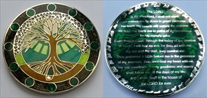 23rd Psalm Geocoin Green Pastures Edition RE 50