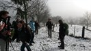 erste Steigung mit Schnee