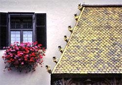 Schindel/copper tiles