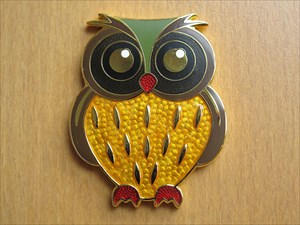 Owl Geocoin (Vorderseite)