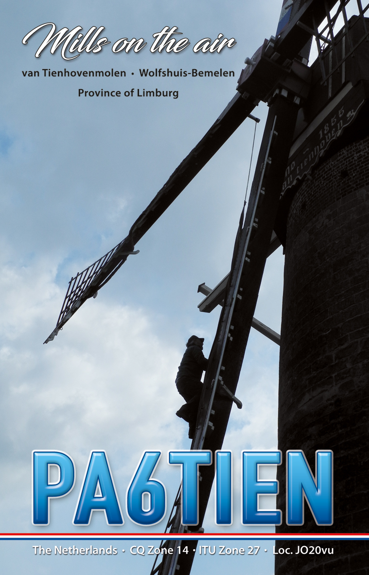 QSL card PA6TIEN Mill on the air