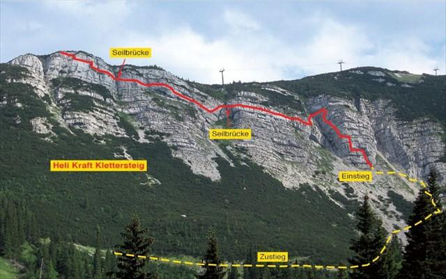 Klettersteig Map : Gc y tf heli kraft klettersteig traditional cache in