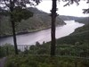 A vista para o espelho de água da barragem