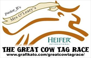 Mrs O'Leary's Racer Cow Tag