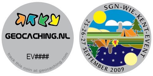 front side of the geocoin