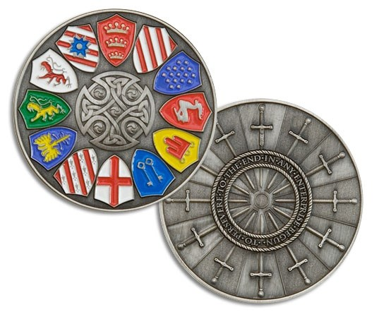 Tb4nyn1 knights of the round table geocoin knights of for 12 knights of round table