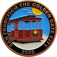 Personal Geocoin  - San Francisco front