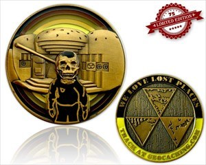 We Love Lost Places Geocoin Shiny Edition LE 75