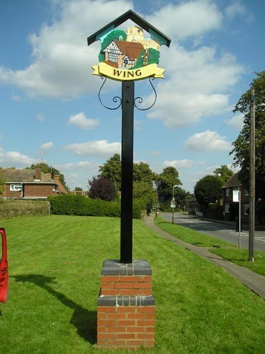 Wing Village Sign