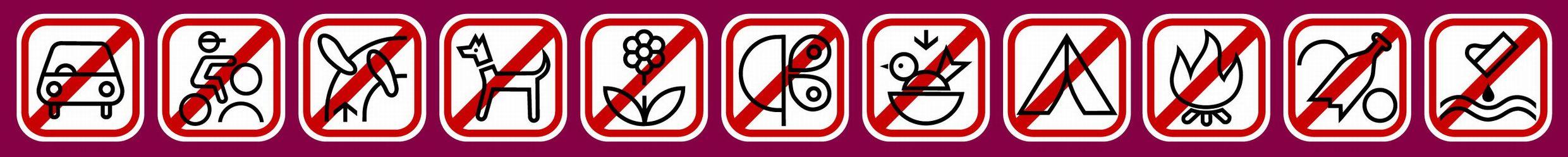 zákazové symboly